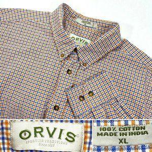 ORVIS Sz XL Men's Button Down Long Sleeve Shirt